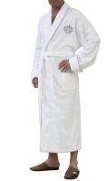 Мужской бамбуковый халат Bamboo Elit (белый)