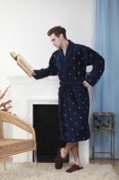 Мужской махровый халат RAIN синий