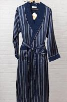 Мужской шелковый халат 9015 Dark blue