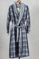 Мужской шелковый халат 8015 Grey