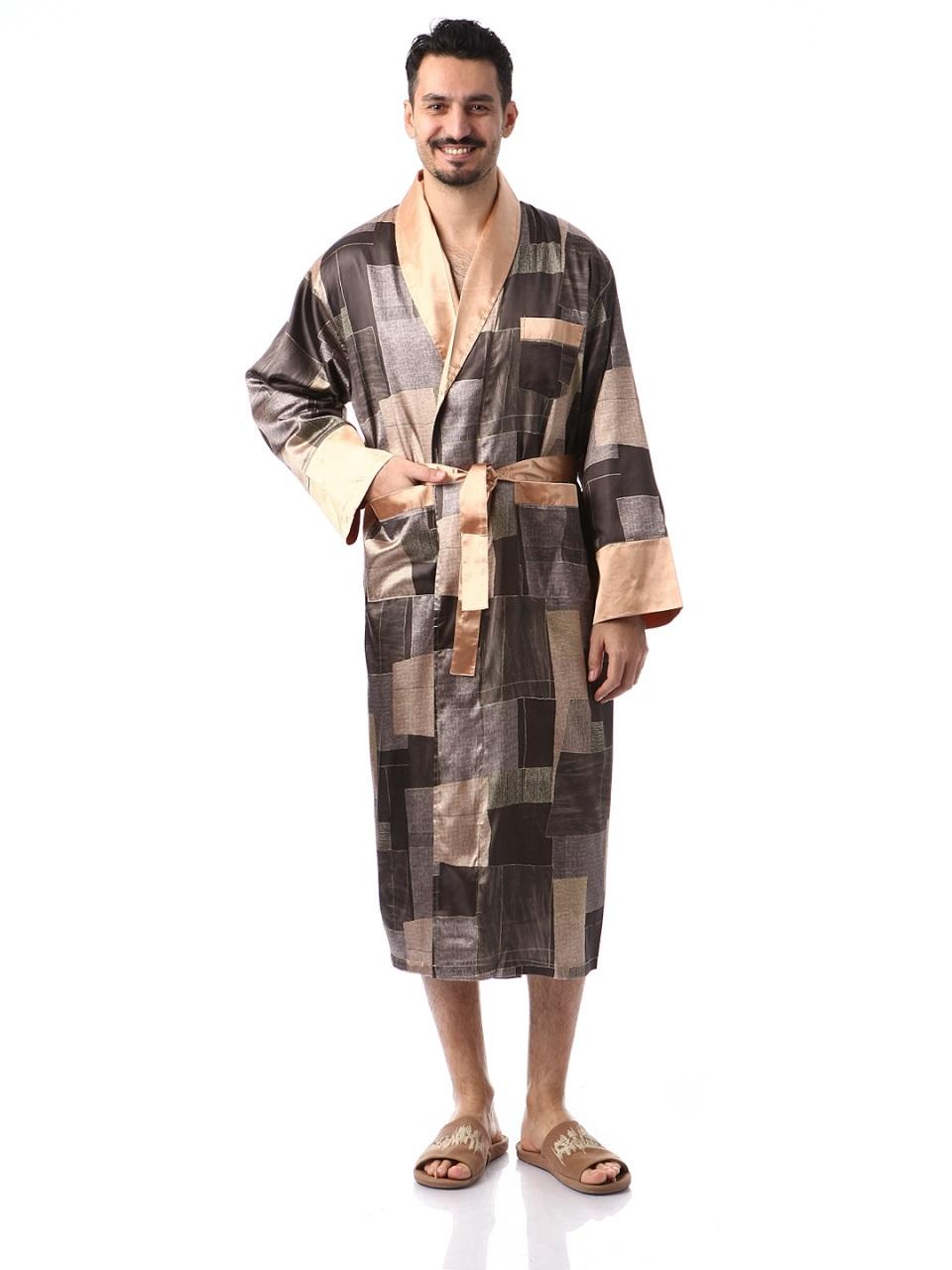 Мужской шелковый халат Джентельмен-4(абстракция)