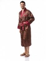 Мужской шелковый халат Джентельмен-7(ультрамарин)