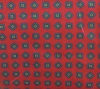 Шелковый халат Джентльмен 2 (бордо с синим)