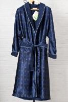 Мужской шелковый халат 8015 Blue