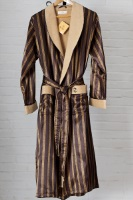 Мужской шелковый халат 9015