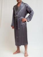 Легкий бамбуковый халат Люкс 12500(серый)