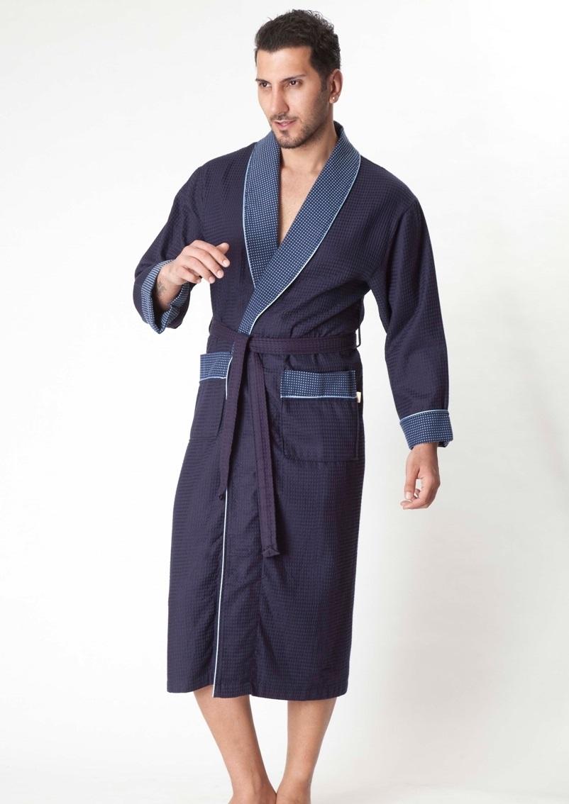 Бамбуковый вафельный халат (15120)- Экстра мягкость!
