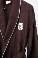 Вафельный халат с вышивкой (10075 шоколад)- Экстра легкость!