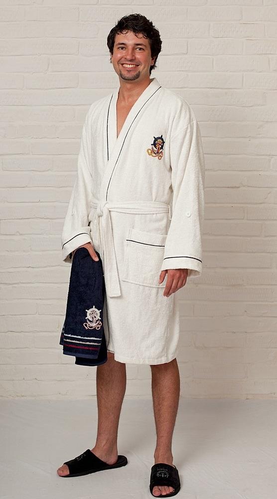 Легкий бамбуковый халат Yacht Club White - Супер Хит!