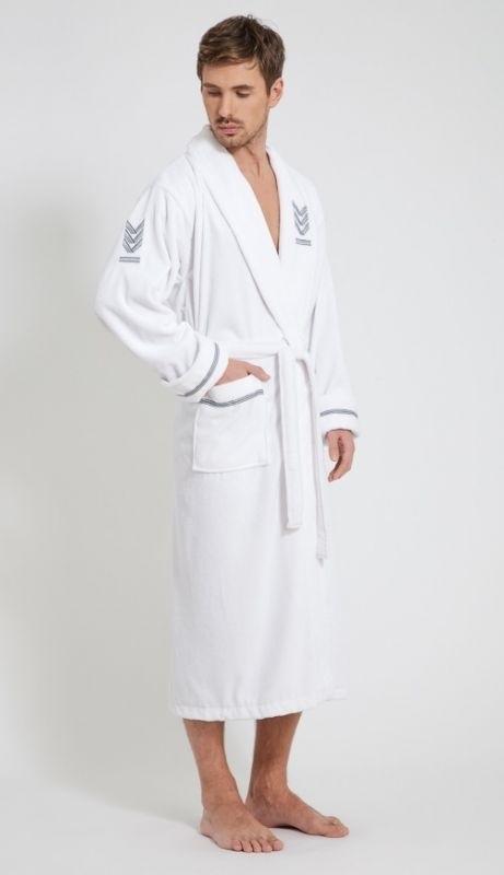 Мужской халат из Бамбука OFFICER White - Экстра класс!!!