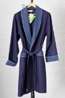Укороченный вафельный халат 15125 (бамбук)-Хит сезона!
