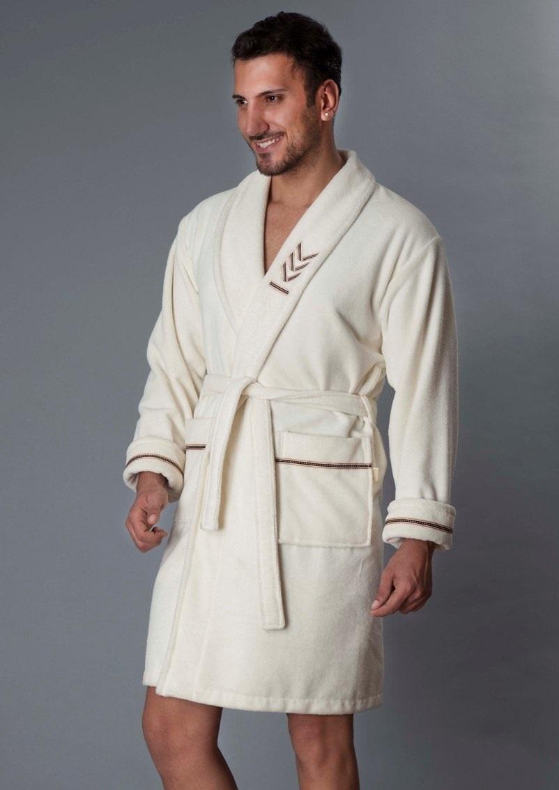 Мужской халат из бамбука OFFICER Short