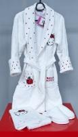 Детский банный комплект Hello Kitty (белый)