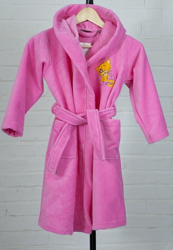 Детский банный халат из бамбука - Малыш(304 розовый)