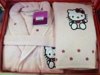 Детский банный комплект Hello Kitty (розовый)