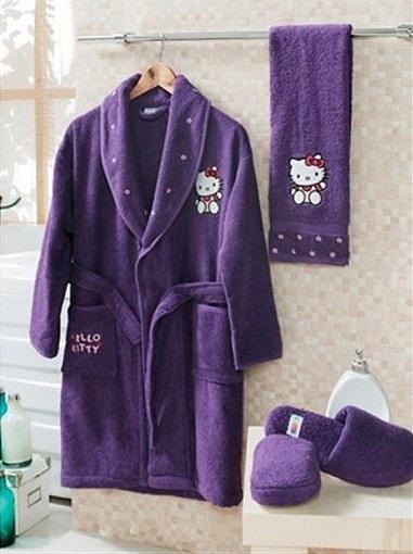 Детский банный комплект Hello Kitty (лилиовый)