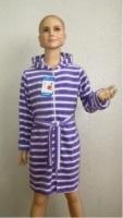 Детский халат из облегченной махры 1-2