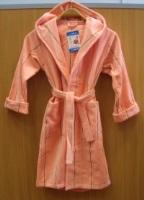 Детский махровый халат Персик